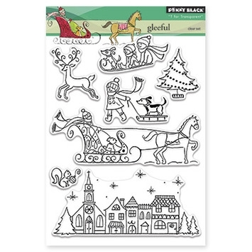 Penny Black Clear Stamps GLEEFUL 30-266 zoom image