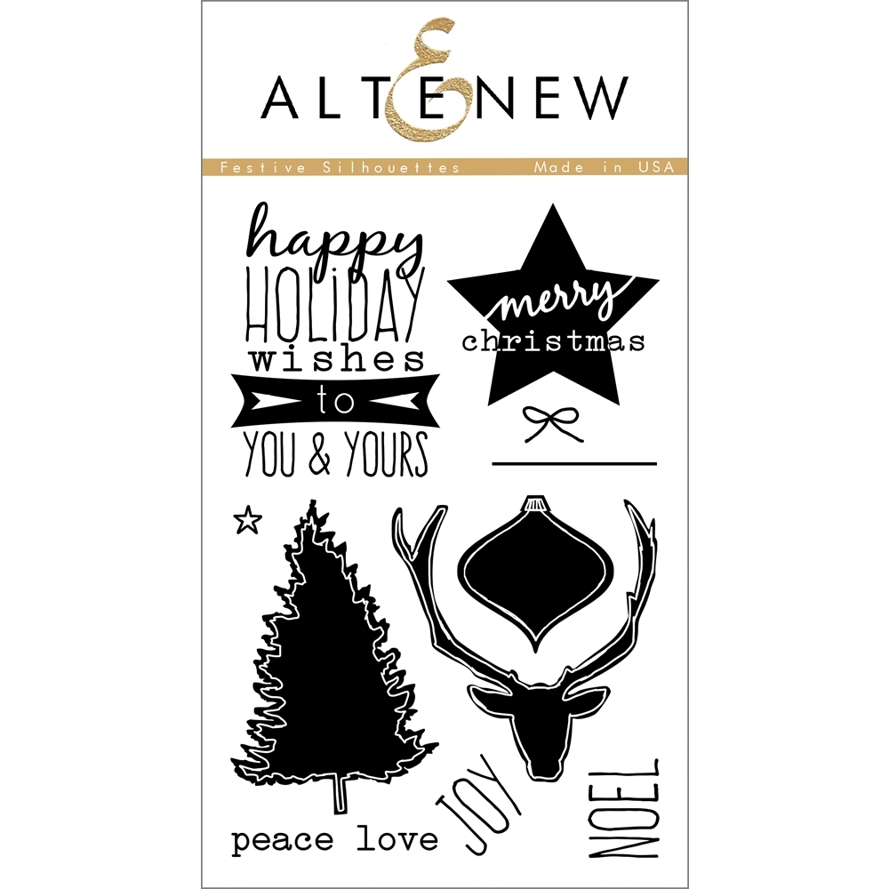 Altenew FESTIVE SILHOUETTES Clear Stamp Set AN127 zoom image
