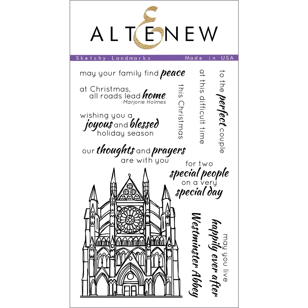 Altenew SKETCHY LANDMARKS Clear Stamp Set ALT1109 zoom image