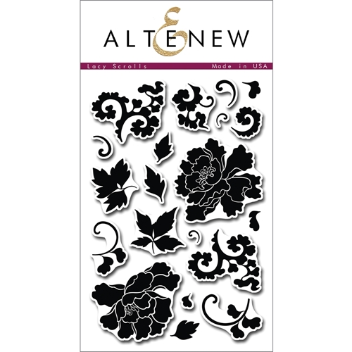 Altenew LACY SCROLLS Clear Stamp Set AN130 Preview Image