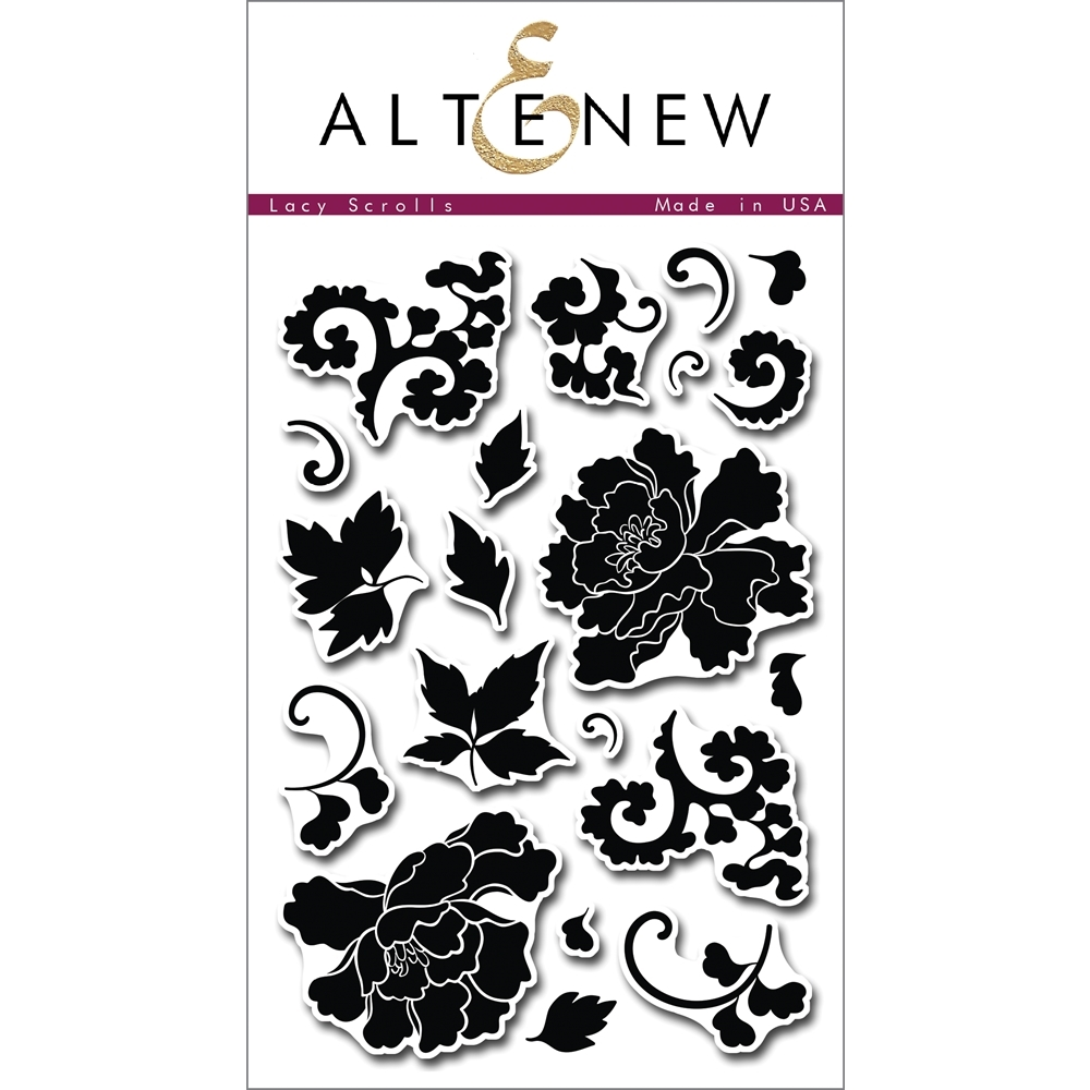Altenew LACY SCROLLS Clear Stamp Set ALT1009 zoom image