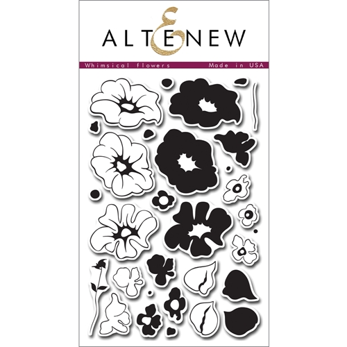 Altenew WHIMSICAL FLOWERS Clear Stamp Set AN136 Preview Image