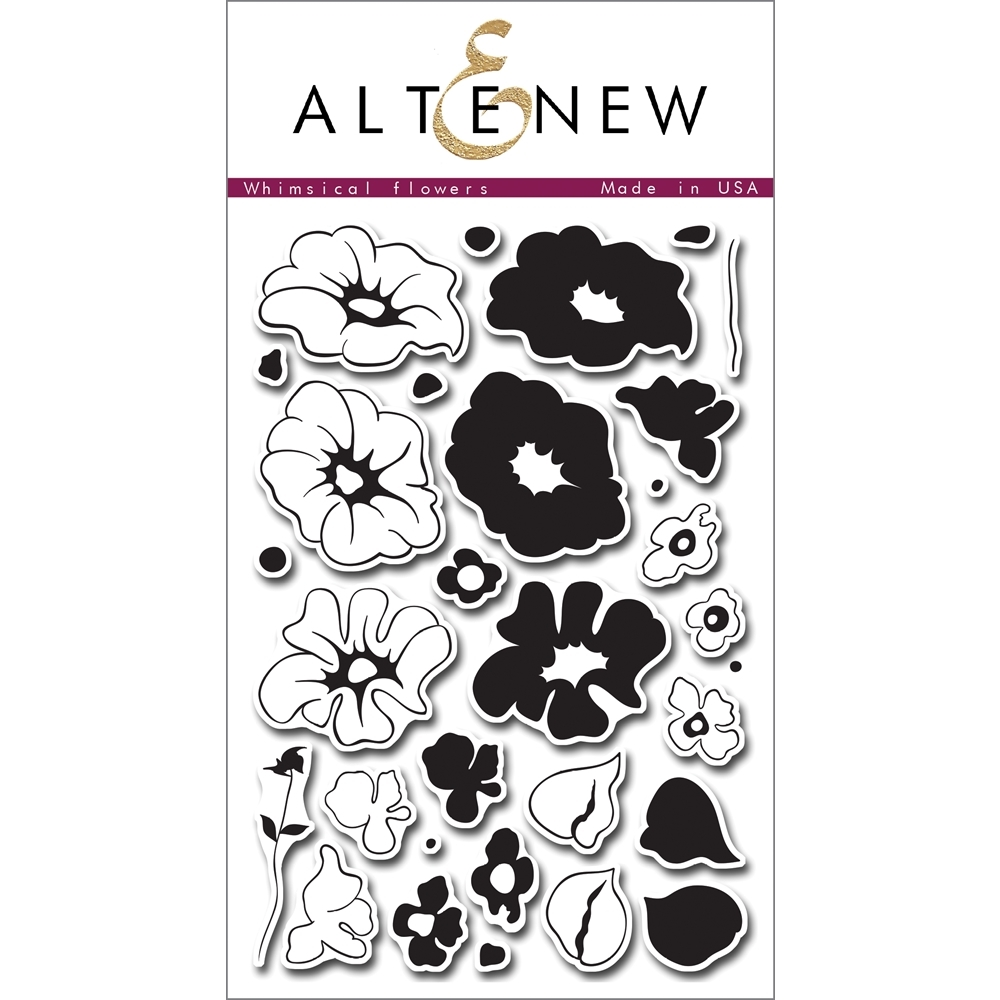 Altenew WHIMSICAL FLOWERS Clear Stamp Set AN136 zoom image