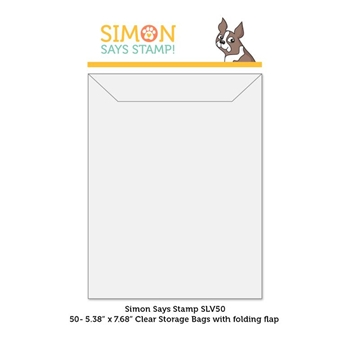 Simon Says Stamp Clear STORAGE SLEEVES 50 Quantity SLV50