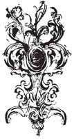 Tim Holtz Rubber Stamp BAROQUE Stampers Anonymous U3-1158