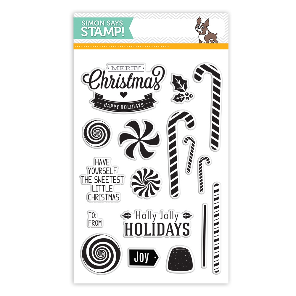 Simon Says Clear Stamps CANDY CANE CHRISTMAS sss101497 zoom image