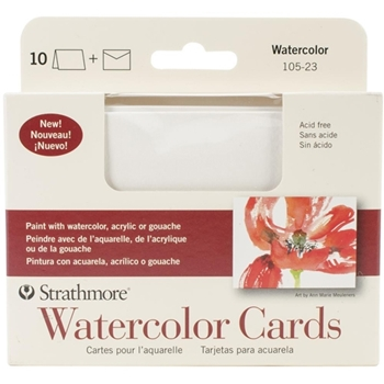 Strathmore WATERCOLOR CARDS 3x5 with Envelopes 10523