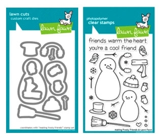 Lawn Fawn SET LF214MFF MAKING FROSTY FRIENDS Clear Stamps And Dies zoom image