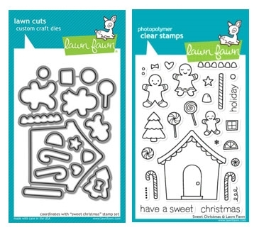 Lawn Fawn SET LF214SXMAS SWEET CHRISTMAS Clear Stamps And Dies Preview Image