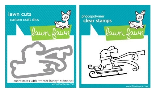 Lawn Fawn SET LF214WB WINTER BUNNY Stamp And Die zoom image