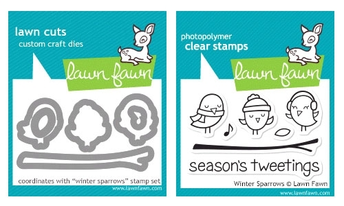 Lawn Fawn SET LF214WSP WINTER SPARROWS Stamps And Dies Preview Image
