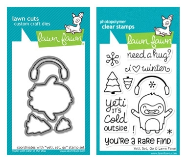 Lawn Fawn SET LF214YETI YETI SET GO Clear Stamps And Dies Preview Image