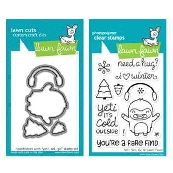 Lawn Fawn SET LF214YETI YETI SET GO Clear Stamps And Dies