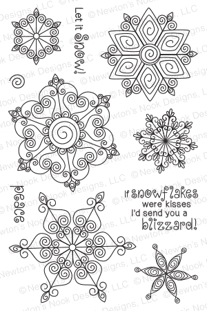 Newton's Nook Designs BEAUTIFUL BLIZZARD Clear Stamp Set 20141101 Preview Image