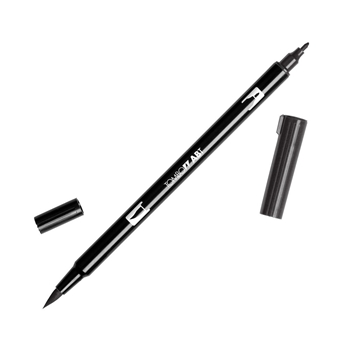 Tombow N15 BLACK Dual Brush Marker 56621