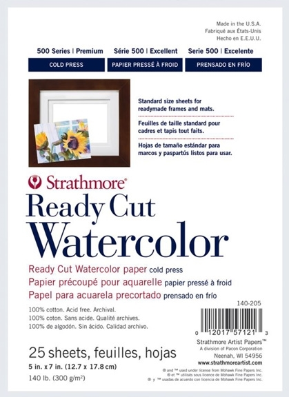 Strathmore WATERCOLOR PAPER 5.5x7 Ready Cut Sheets 140205 zoom image