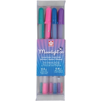 Sakura FINE POINT Moonlight 16 Gelly Roll Pens Set 58177