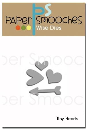 Paper Smooches TINY HEARTS Wise DIes DED184 Preview Image