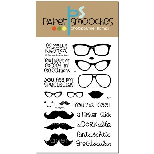 Paper Smooches INCOGNITO Clear Stamps DES233 Preview Image