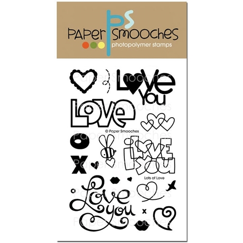 Paper Smooches LOTS OF LOVE Clear Stamps DES232 Preview Image