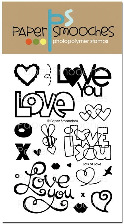 Paper Smooches LOTS OF LOVE Clear Stamps DES232 zoom image