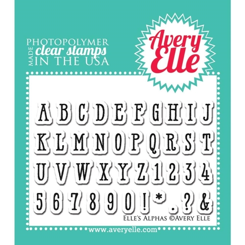 Avery Elle Elle's Alphas Clear Stamp Set