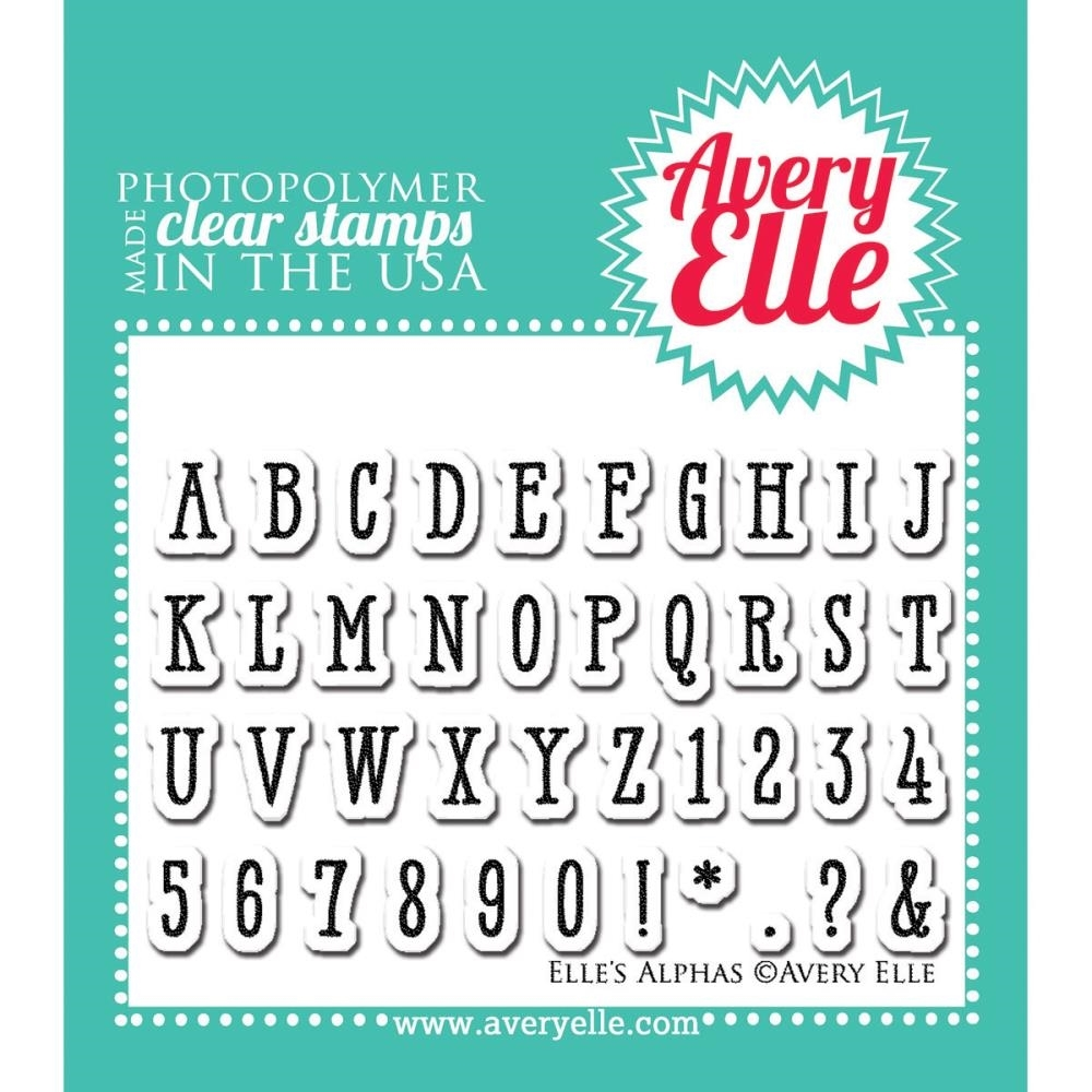 Avery Elle Clear Stamps ELLES ALPHAS Set ST-14-40 or 22065 zoom image