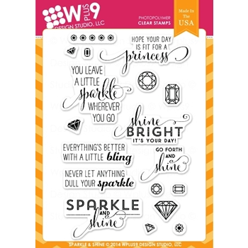 Wplus9 SPARKLE AND SHINE Clear Stamps CL-WP9SAS
