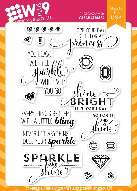 Wplus9 SPARKLE AND SHINE Clear Stamps CL-WP9SAS zoom image