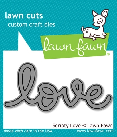 Lawn Fawn SCRIPTY LOVE Lawn Cuts Die LF794 Preview Image