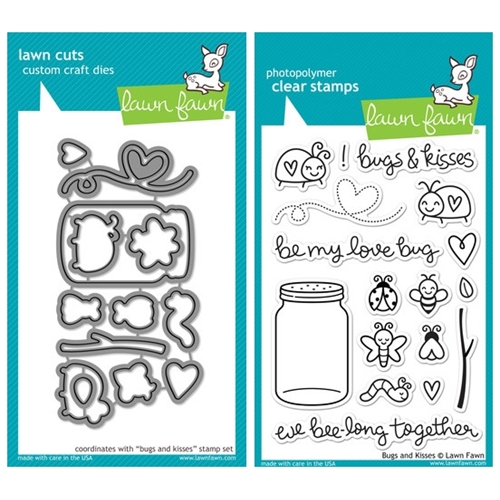 Lawn Fawn SET LF214BAK LOVE BUG Clear Stamps And Dies Preview Image