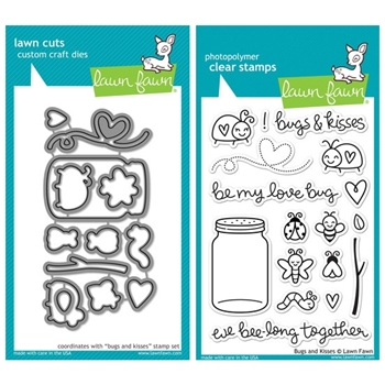 Lawn Fawn SET LF214BAK LOVE BUG Clear Stamps And Dies