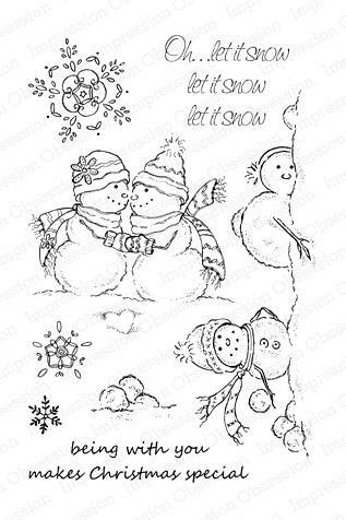 Impression Obsession Clear Stamps LET IT SNOW Set CL195 zoom image