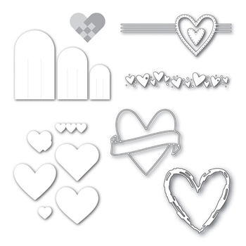 Simon Says Stamp Wafer Dies Set HEARTS FROM BETTER TOGETHER SetHBT165*