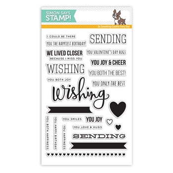 Simon Says Clear Stamps SENDING AND WISHING sss101475 Better Together