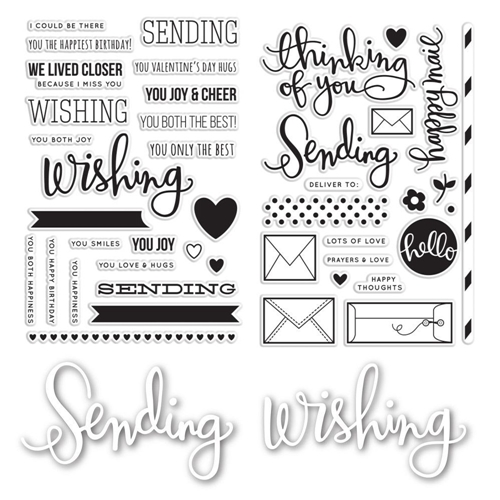 Simon Says Stamp Sending and Wishing Stamp and Die Set