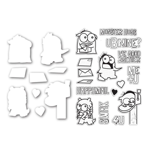 Simon Says Dies and Stamps Set LITTLE MONSTERS SetLM166 Better Together Preview Image