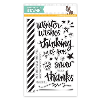 Simon Says Clear Stamps HAND LETTERED WINTER WISHES sss101494