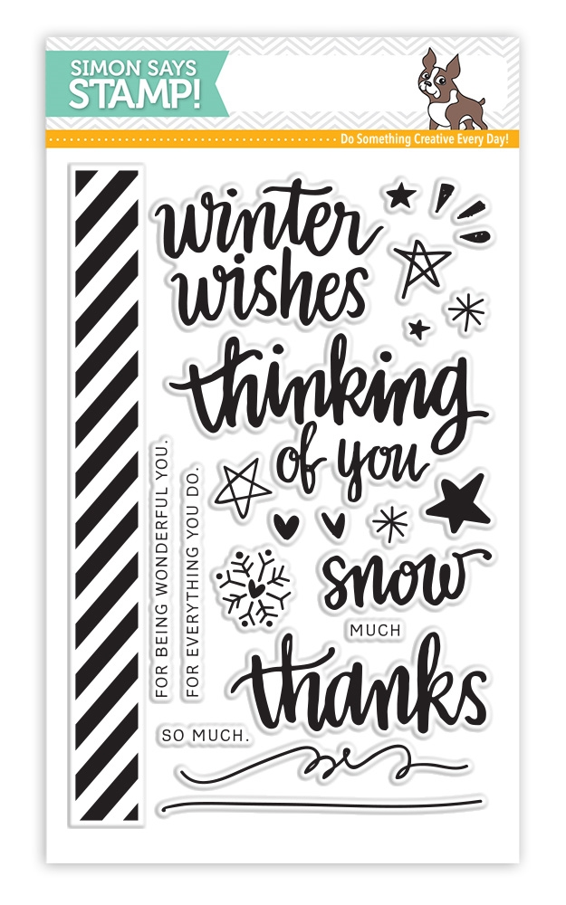 Simon Says Clear Stamps HAND LETTERED WINTER WISHES sss101494 zoom image
