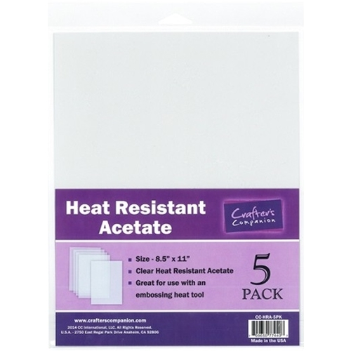 Crafter's Companion HEAT RESISTANT ACETATE Pack CC-HRA-5PK Preview Image