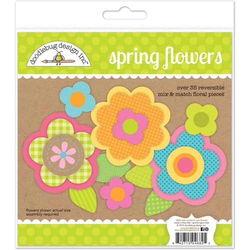 Doodlebug SPRING FLOWERS Mix and Match Floral Pieces 4682 Preview Image