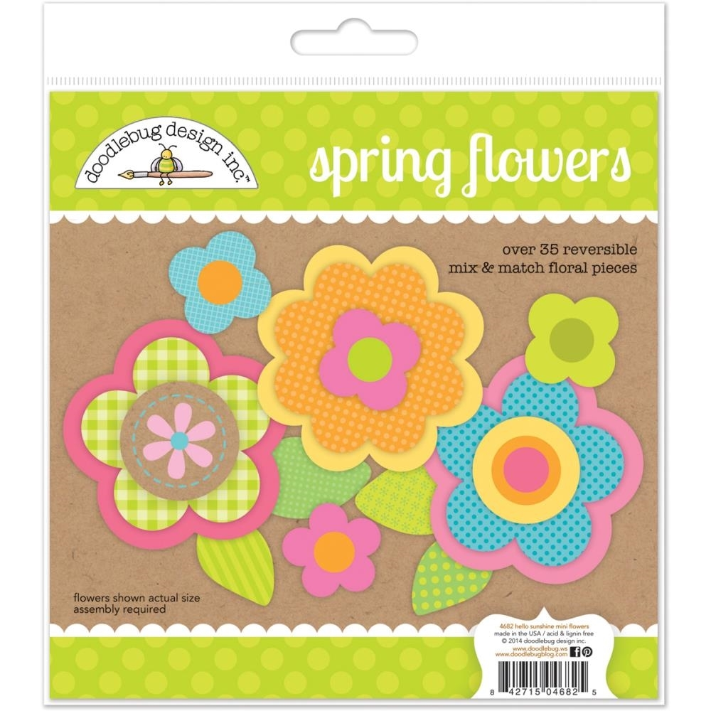 Doodlebug SPRING FLOWERS Mix and Match Floral Pieces 4682 zoom image