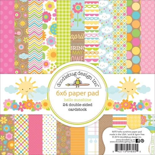 Doodlebug HELLO SUNSHINE 6 x 6 Paper Pad 4695 Preview Image