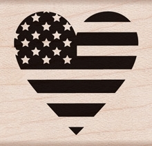 Hero Arts Rubber Stamp HEART FLAG  D6007 Preview Image