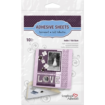 Scrapbook Adhesives 4 x 6 INCH ADHESIVE SHEETS Permanent 16800