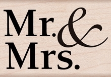 Hero Arts Rubber Stamp MR AND MRS D6010* Preview Image