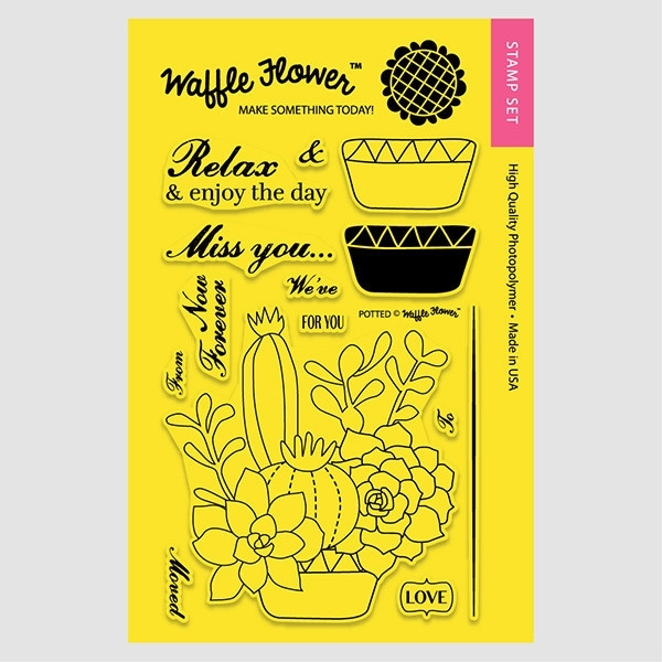 Waffle Flower POTTED Clear Stamp Set 271025 zoom image