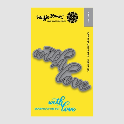 Waffle Flower WITH LOVE WORD Die Set 310021 Preview Image