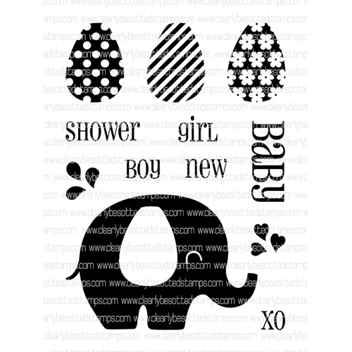 Clearly Besotted BABY SHOWER Clear Stamp Set * Preview Image