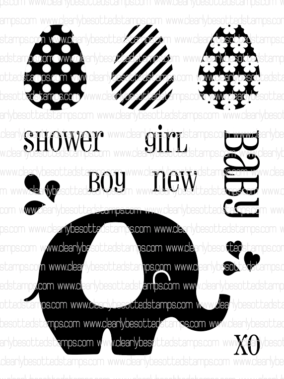 Clearly Besotted BABY SHOWER Clear Stamp Set * zoom image